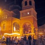 Die Russische Kirche beim Paßchafest